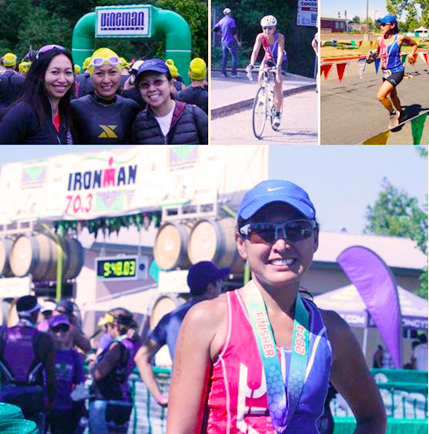 I'm a 70.3 finisher! Photo credits: Raciel Diaz.